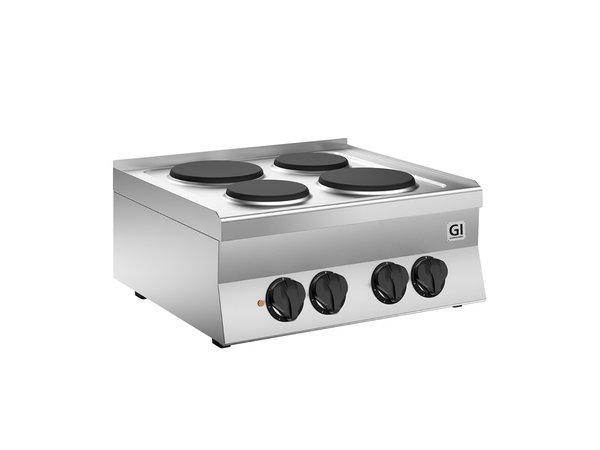 XXLselect 650 HP Kooktoestel | Met 4 Gietijzeren Kookplaten Ø180 + 220mm | 5,2 kW | 700x650x(H)295mm
