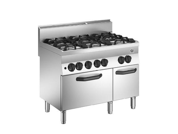 XXLselect 650 HP Gasfornuis | 4 Branders + Gas Oven 33 kW | 1100x650x(H)870mm