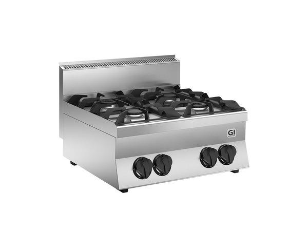 XXLselect 650 HP Gaskooktoestel | 2 Branders 24 kW | 700x650x(H)295mm