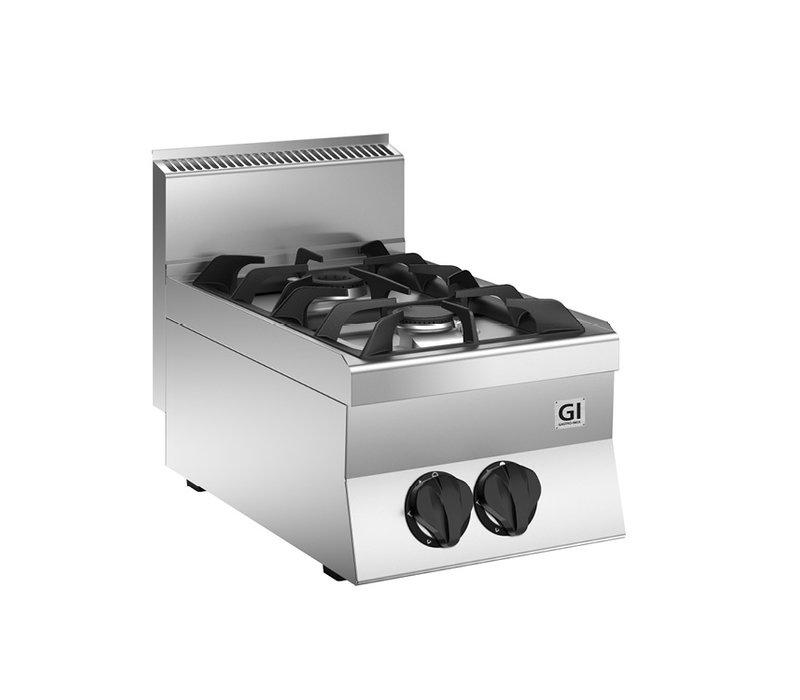 XXLselect 650 HP Gaskooktoestel | 2 Branders 9,5 kW | 400x650x(H)295mm
