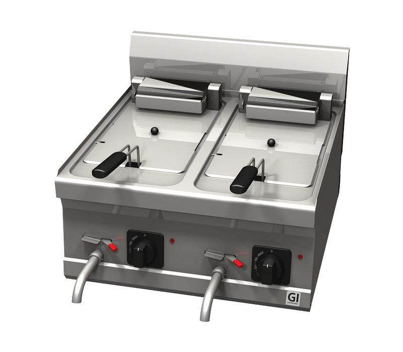 XXLselect 600 Trendline Elektrische Friteuse | 10+10 Liter | 18 kW | 600x600x(H)455mm