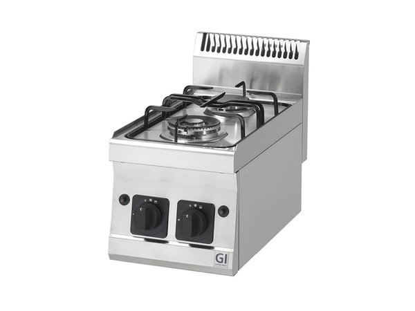 XXLselect 600 Trendline Gaskooktoestel | 2 Bbranders 1x3,3kW & 1x4kW | 300x600x(H)455mm