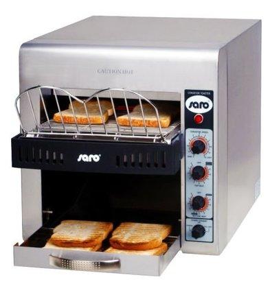 Saro Doorloop toaster - Professioneel XL - RVS  met variabele snelheid - 37x58x(H)40cm - 3000W