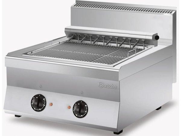 Bartscher Bakplaat - Elektrisch - Rooster met 2 Grillzones - 80x65x(h)30cm - 400V/8,16kW