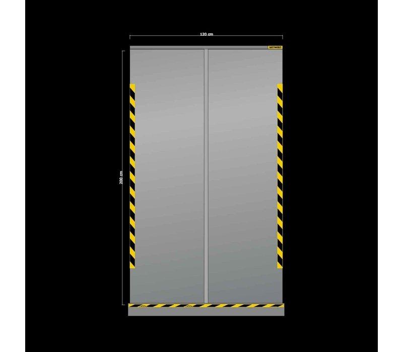 XXLselect Transparant oprolbaar scherm   1200x(H)2000mm