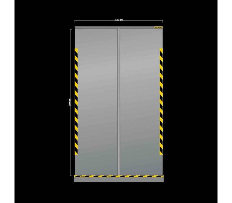 XXLselect Transparent retractable screen | 1200x (H) 2000mm