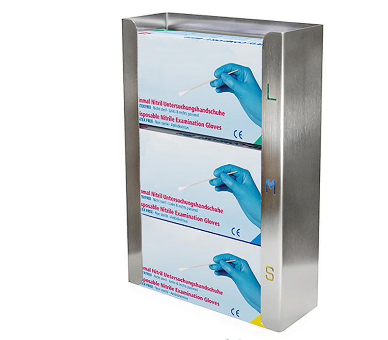 Saro Handschoenen Dispenser RVS | Geschikt Voor 3 Dozen