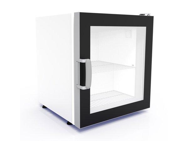 Combisteel Tafelmodel Vrieskast | Glazen Deur | Geschikt voor IJS | 73 Liter | 542x566x(H)628mm