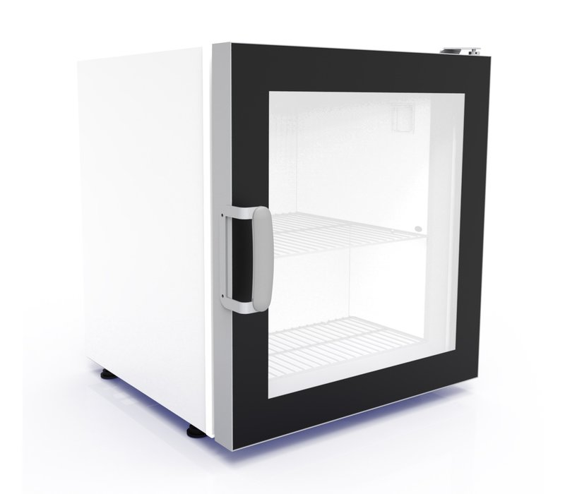 Combisteel Tabletop Freezer   Glass Door   Suitable for ICE   73 Liter   542x566x (H) 628mm
