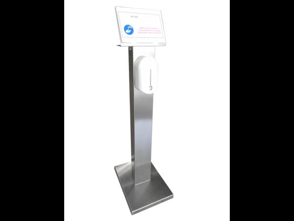 Sofinor Desinfectie Zuil RVS |  Automatische Distributie |  Hydroalcoholische gel | 525 x 375 x 1409mm