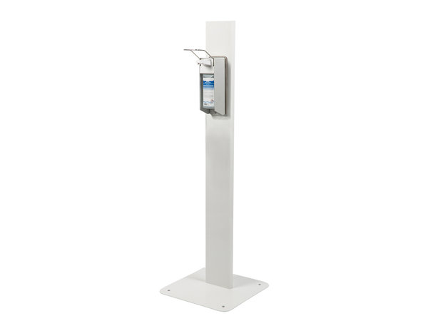 Saro Heavy Duty Desinfectiepaal | Elleboog Dispenser | 500ml | 450x450x(H)1400mm