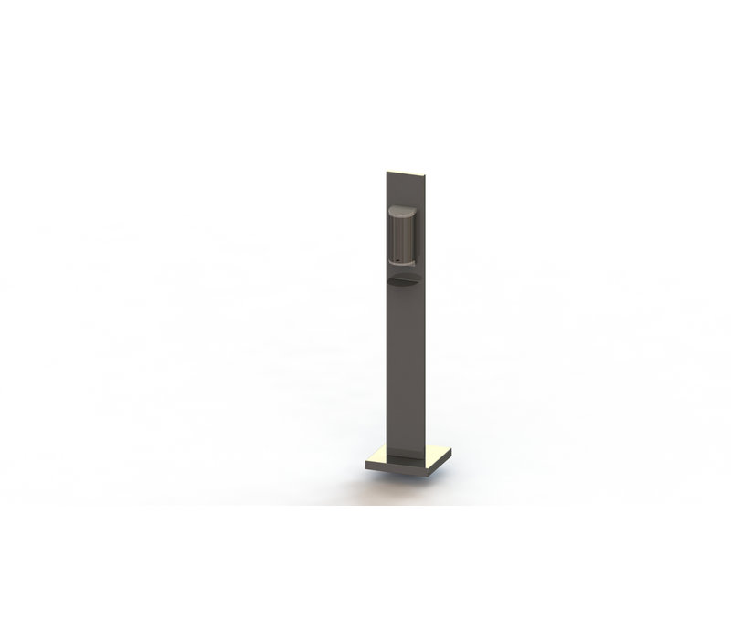 Saro Dispenser Voor Handdesinfectie RVS Met Zuil | 800ml | 305x305x(H)1300mm