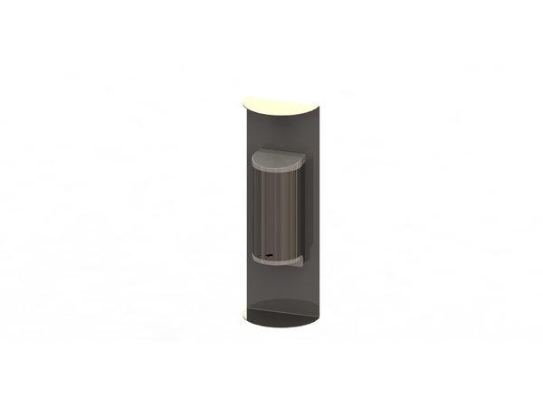 Saro Dispenser Voor Handdesinfectie RVS   No Touch   800ml   180x110x520mm