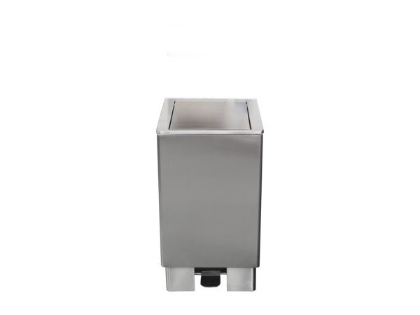 Saro RVS Afvalbak 120 Liter | Zelfsluitende Deksel | 905x475x(H)420mm