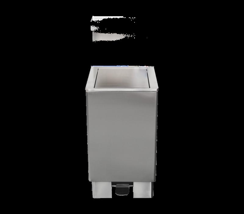 Saro Stainless steel waste bin 120 Liter | Self-closing Lid | 905x475x (H) 420mm
