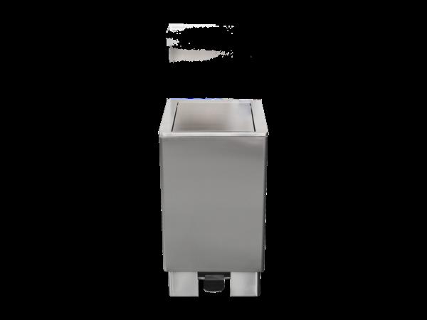 Saro RVS Afvalbak 90 Liter | Zelfsluitende Deksel | 905x400x(H)370mm