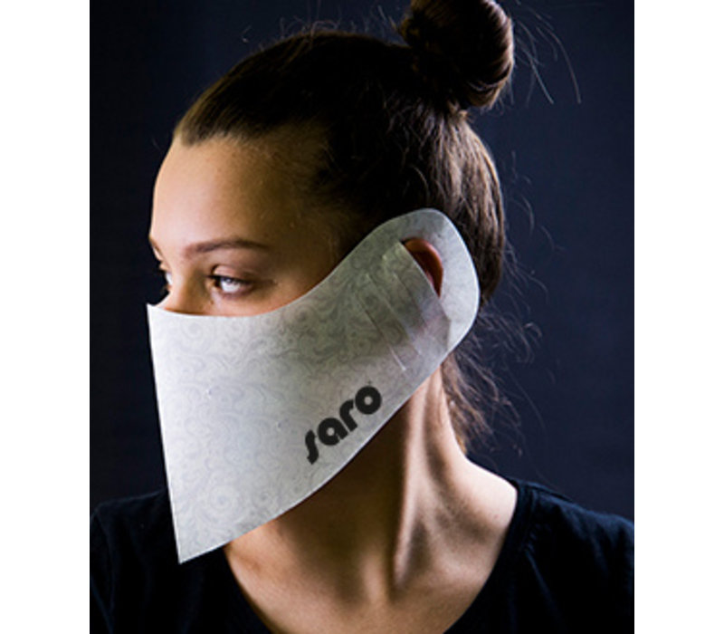 Saro Mouth And Nose Mask Disposable Model | per 100