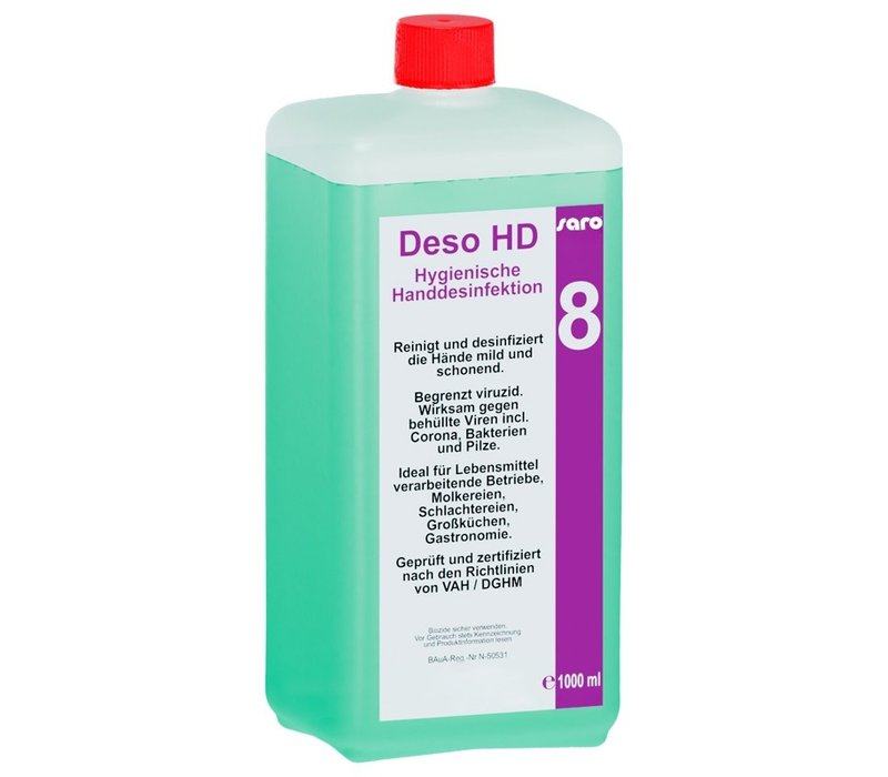 Saro Antibacteriële Handreiniger   1 Liter Fles