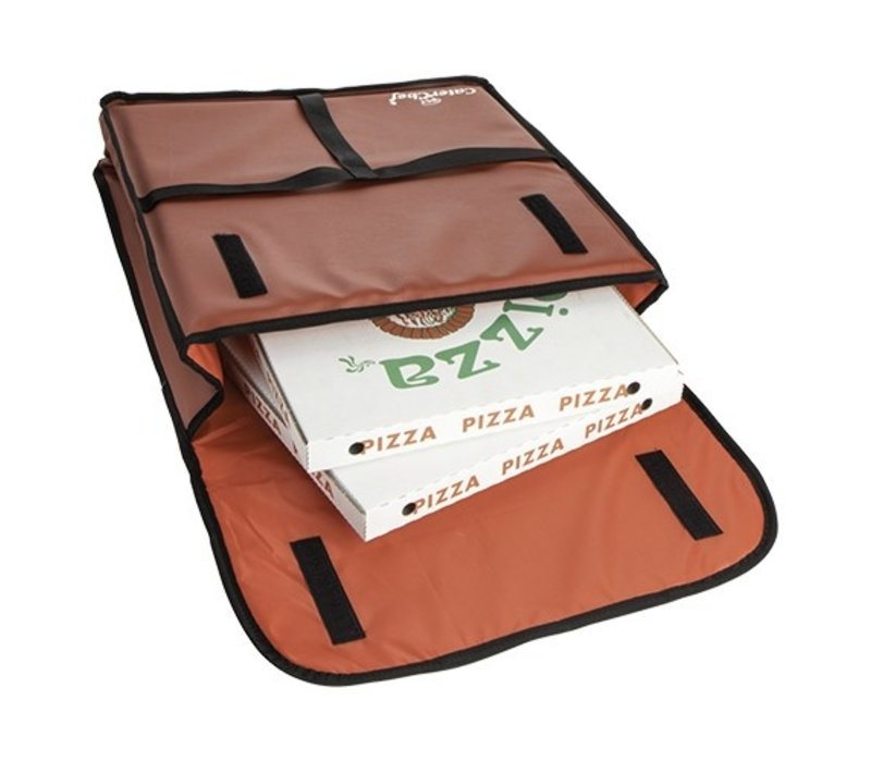 Caterchef Pizza Delivery Bag Brown | Suitable for 4 pizzas