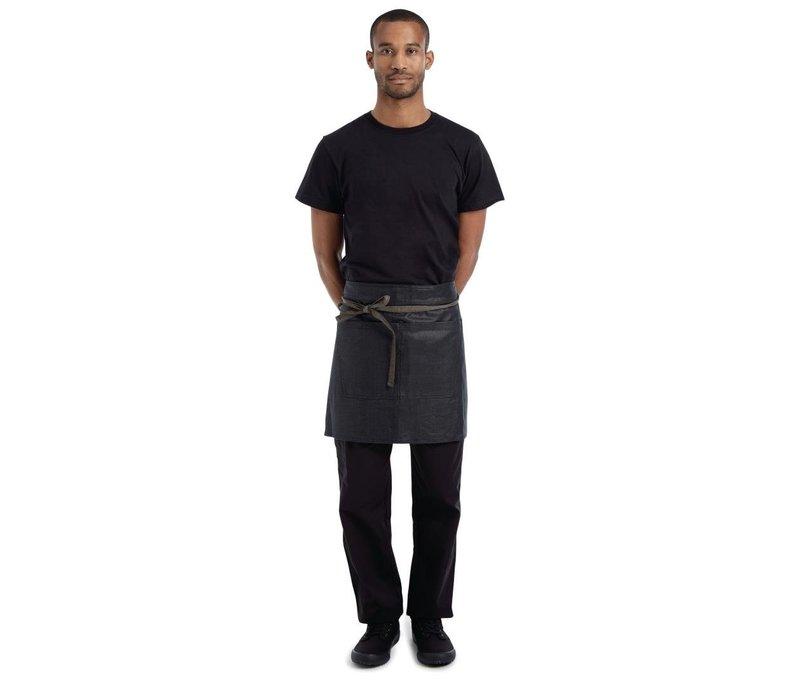 Chef Works Urban Boulder Wetlook Sloof Zwart en Bruin | 100% Katoen
