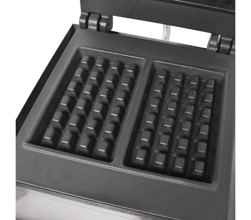 Buffalo Wafelapparaat Met Gietijzeren Platen | 160x100mm Wafels | 302x250x(H)395mm