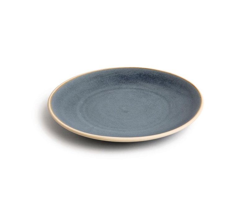 Olympia Canvas Gewelfde Borden Blauw Graniet 270mm | 6 Stuks
