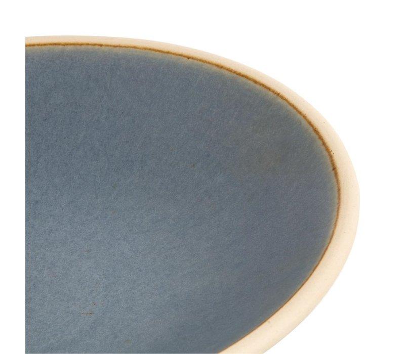 Olympia Canvas Ondiepe Schalen Blauw Graniet 200mm | 6 Stuks