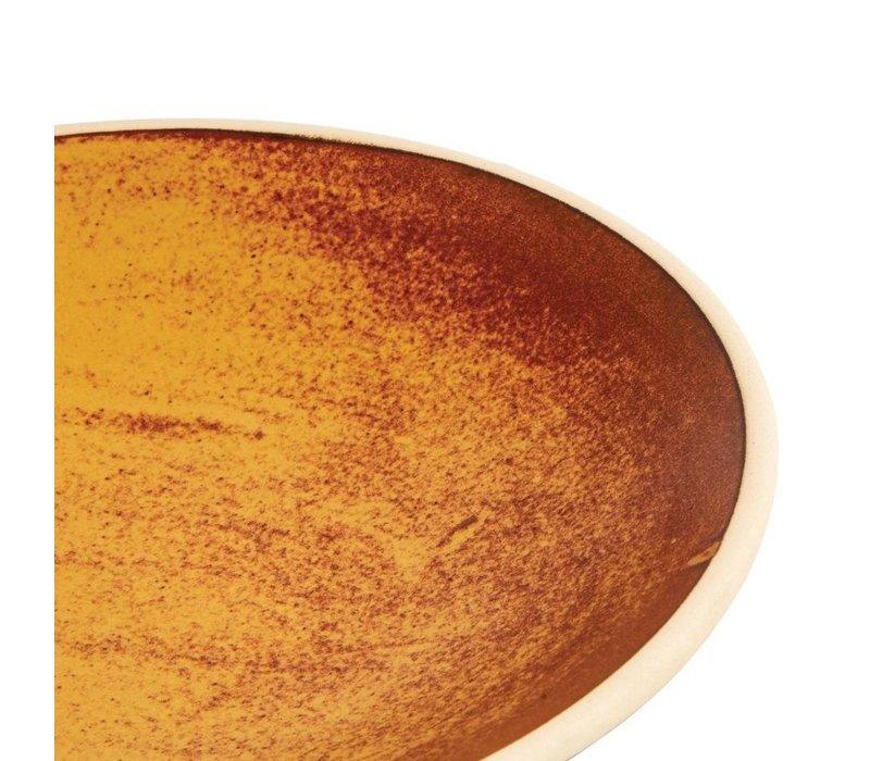 Olympia Canvas Ondiepe Schalen Roestoranje 200mm | 6 Stuks