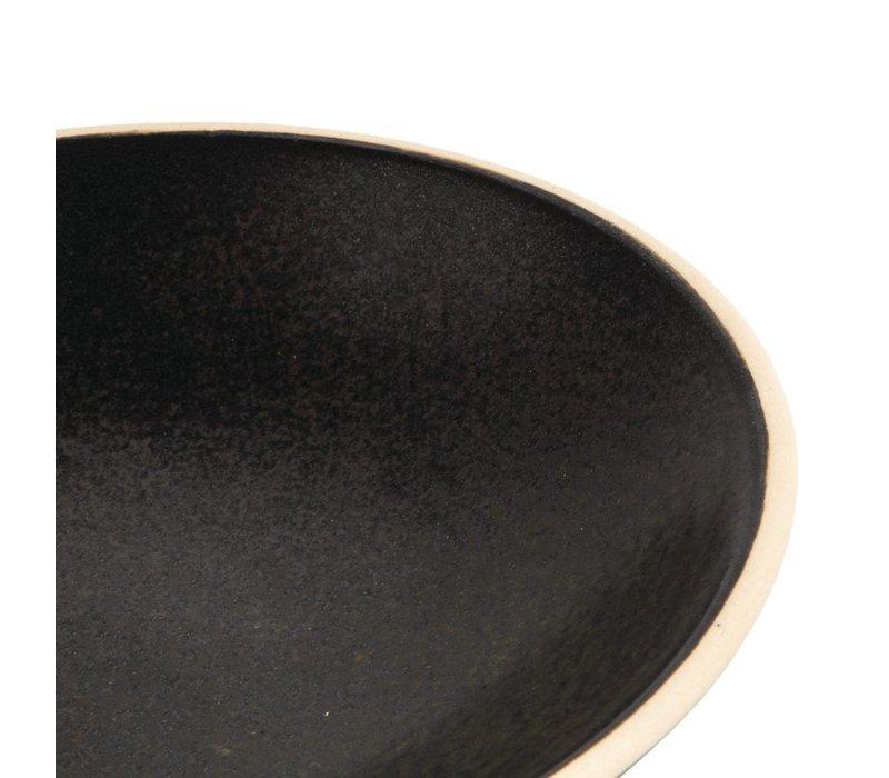 Olympia Canvas Ondiepe Schalen Zwart 200mm | 6 Stuks