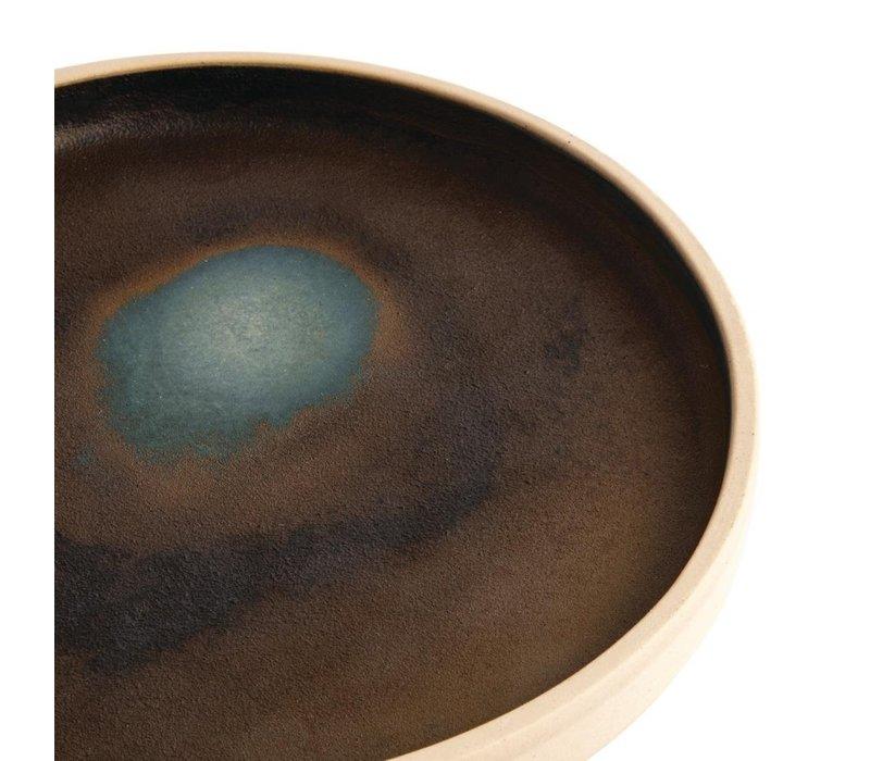 Olympia Canvas Platte Ronde Borden | Donkergroen| 6 Stuks | Beschikbaar in 2 Maten