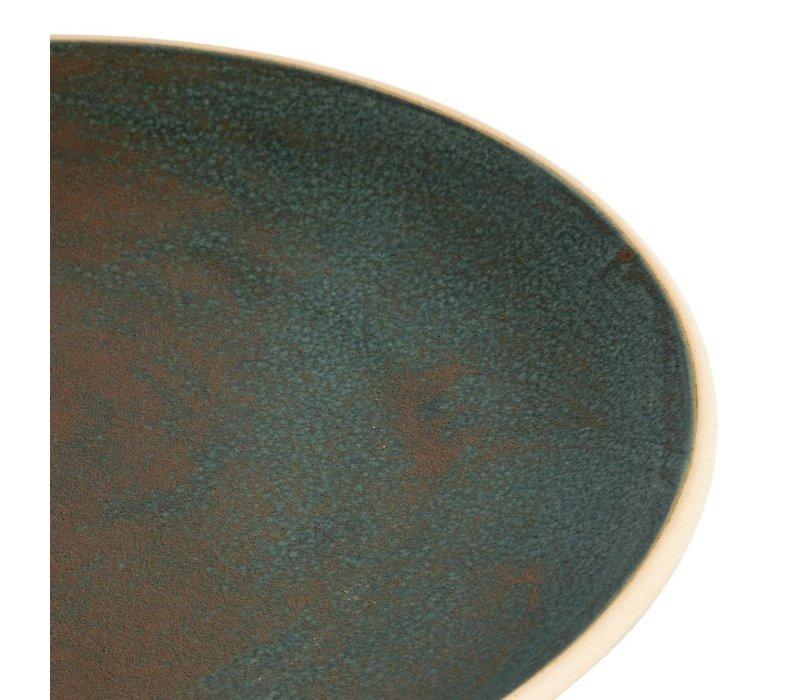 Olympia Canvas Gewelfde Borden Donkergroen 270mm   6 Stuks