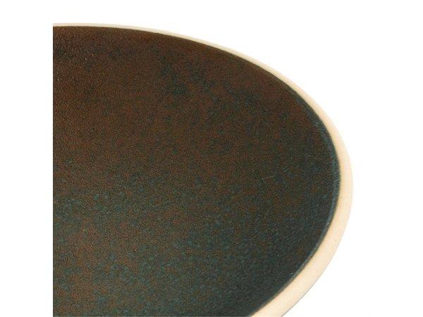 Olympia Canvas Ondiepe Schalen Donkergroen 200mm | 6 Stuks