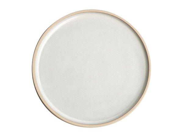 Olympia Canvas Platte Ronde Borden | Wit| 6 Stuks | Beschikbaar in 2 Maten