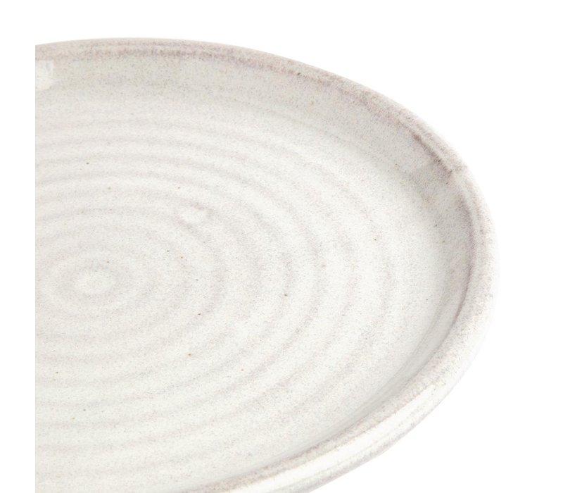 Olympia Canvas Ronde Borden Met Smalle Rand | Wit | 6 Stuks | Beschikbaar in 2 Maten