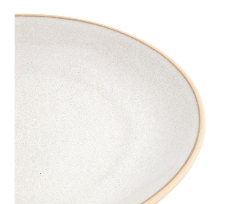 Olympia Canvas Gewelfde Borden Wit 270mm | 6 Stuks