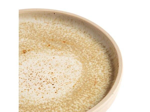 Olympia Canvas Platte Ronde Borden | Crème| 6 Stuks | Beschikbaar in 2 Maten
