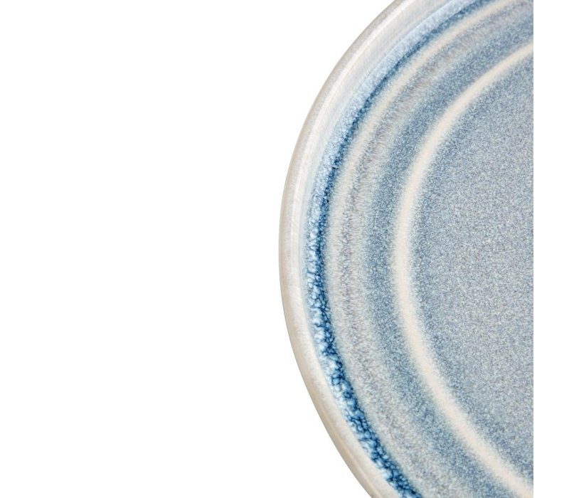 Olympia Cavolo Plat Rond Bord   IJsblauw   180mm   6 Stuks
