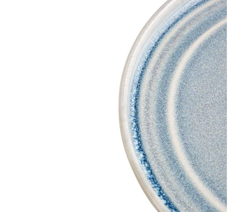 Olympia Cavolo Plat Rond Bord | IJsblauw | 220mm | 6 Stuks