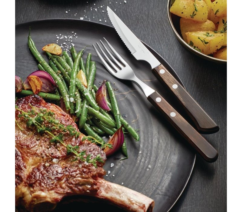 Tramontina Churrasco Chuletero Steakmessen   18/0 RVS   21x229x(H)12mm   6 Stuks