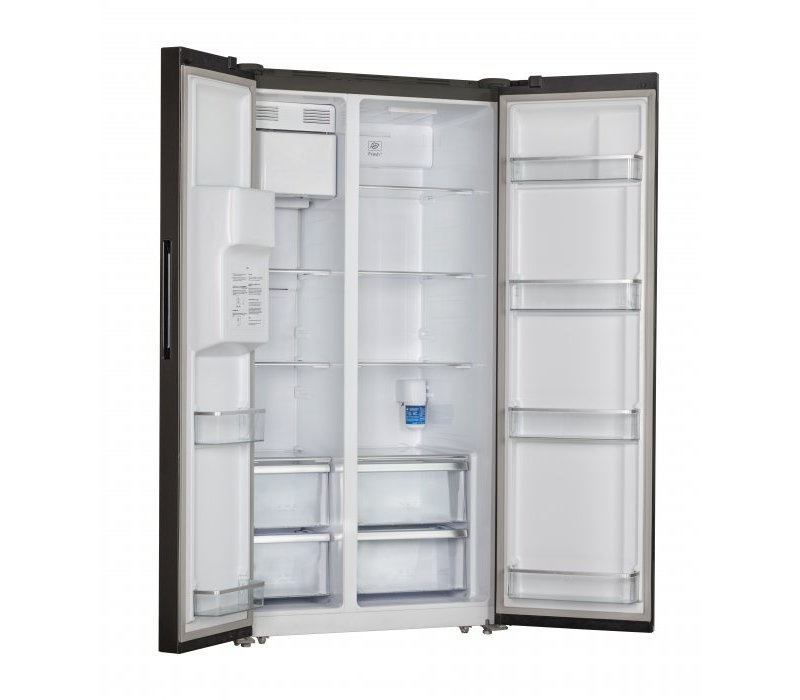 Frilec Amerikaanse Koelkast RW020-IWDI   372+169 Liter   Ijsblokjes + Waterkoeler+ Tap   911x706x(H)1780mm
