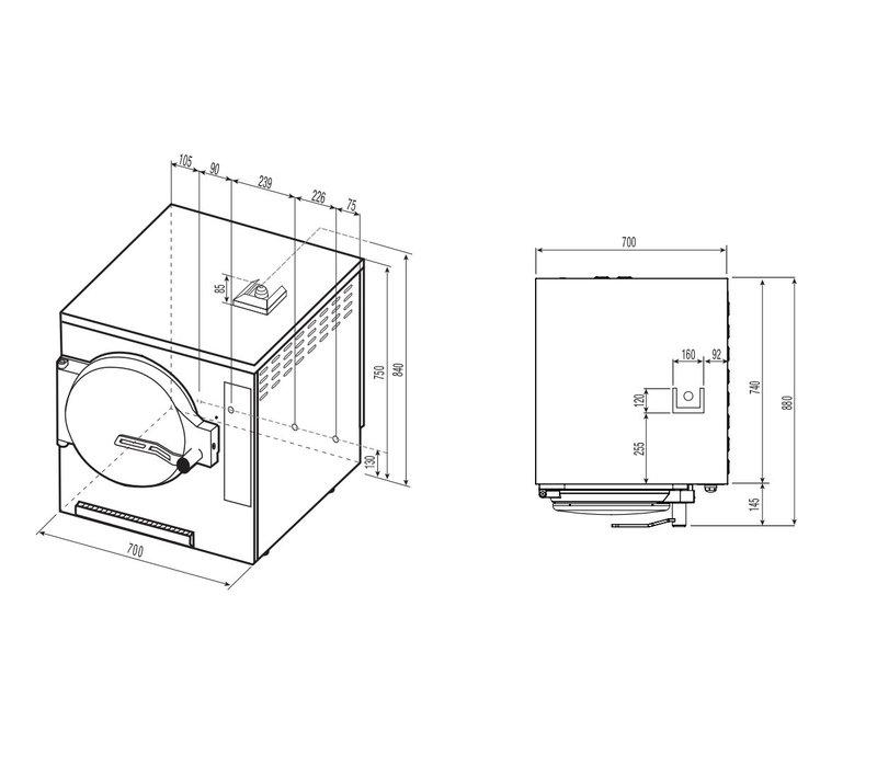 NordCap Drukgaarder CVE 031 E | 15,5 kW | Snelkookpan met Stoom | 3 x GN-bakken 1 / 1-65 of 2 x GN-bakken 1 / 1-100