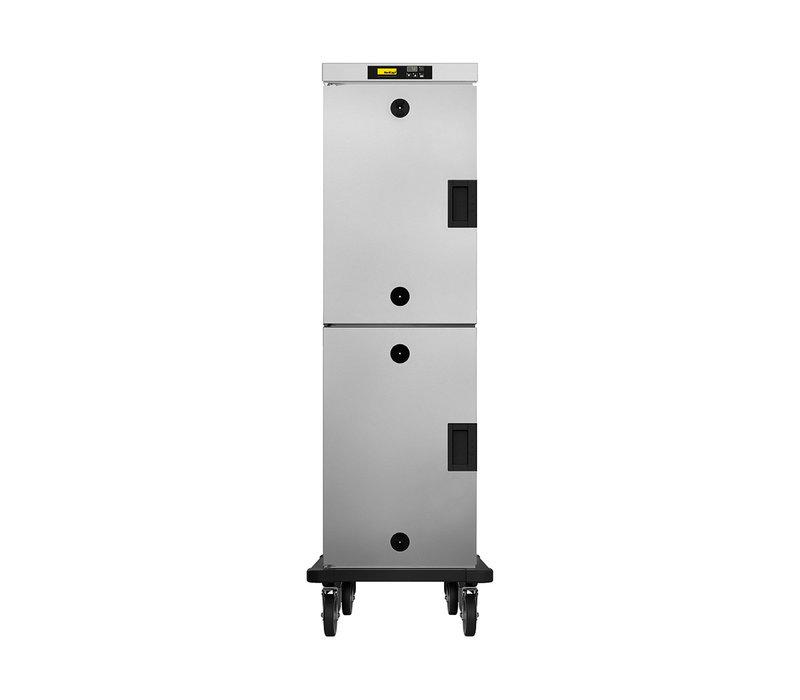 NordCap Warming cabinet 2 Doors HHT 161 E | Mobile 16x GN1 / 1 | 550x735x (H) 1760mm
