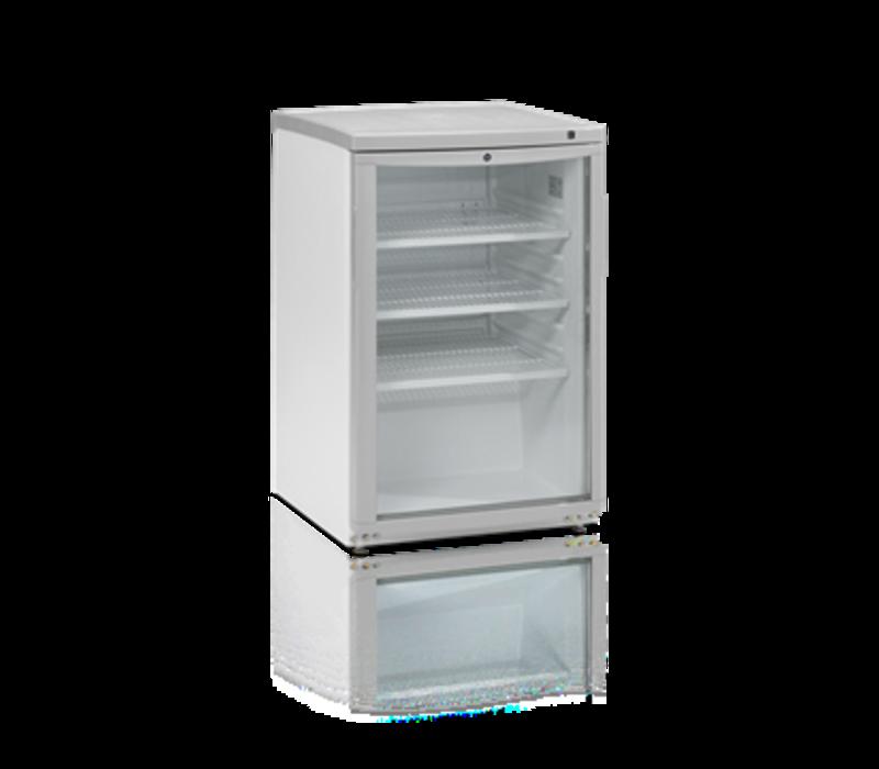 Tefcold Barkoelkast Wit | Glazen Deur | 92 Liter | Led Verlichting | 503x567x(H)775mm