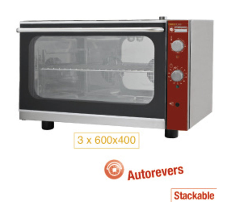Diamond OUTLET Electric convection oven 3x 600x400 mm + manual humidifier