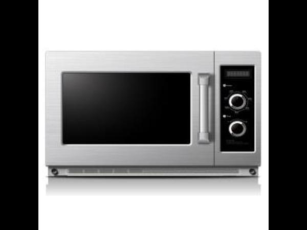 XXLselect Microwave 1800 Watt | Stainless steel housing | 34 Liter | Ceramic base plate | 574x528x (H) 368mm