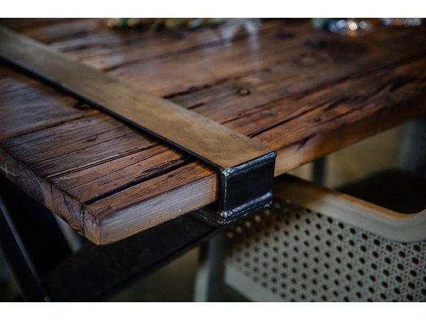 XXLselect Square Tabletop | Barnwood | 800x800mm