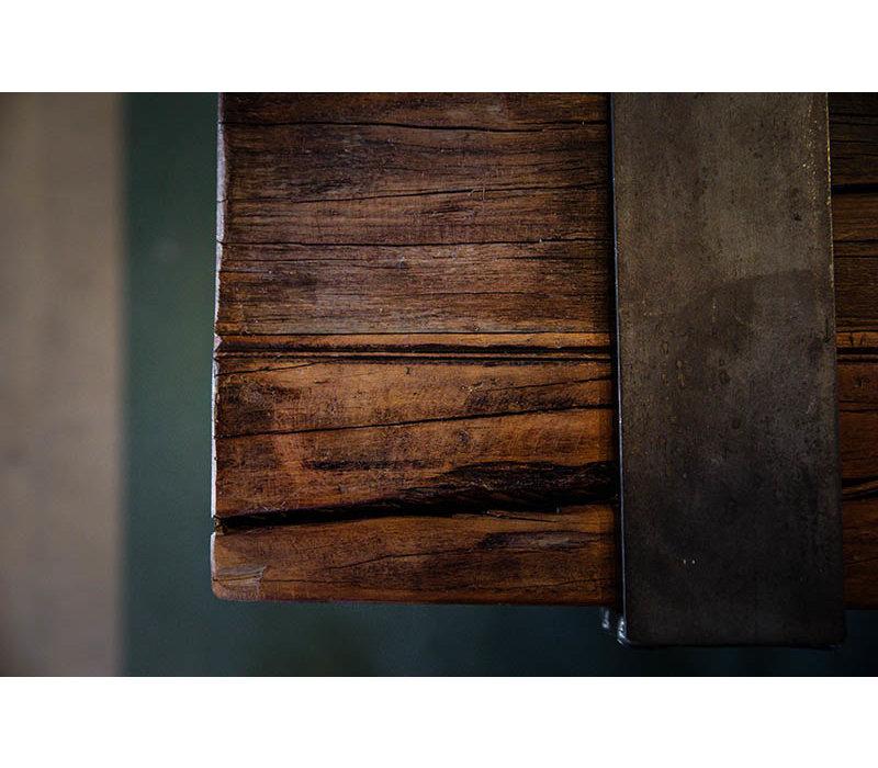 XXLselect Vierkant Tafelblad   Barnwood   800x800mm