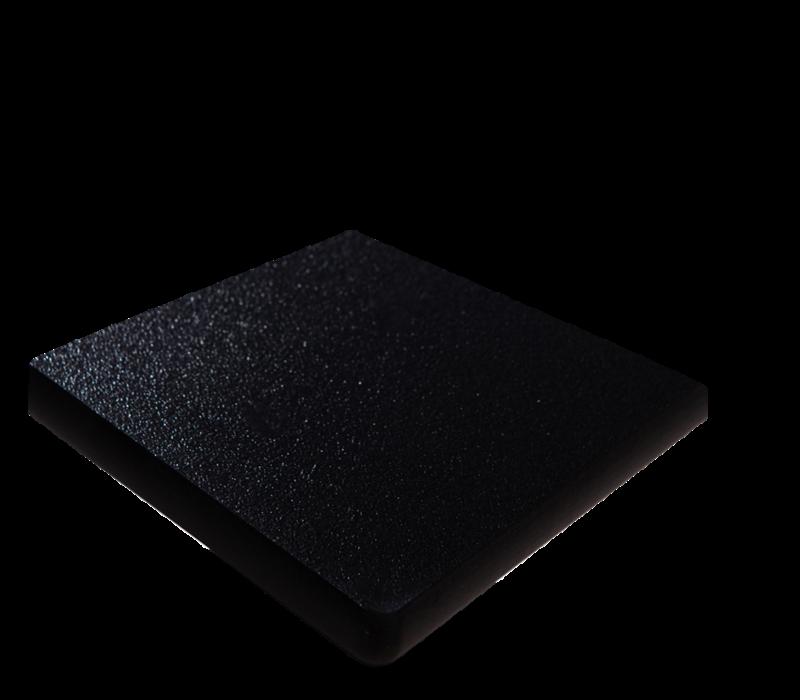 XXLselect Vierkant Tafelblad | Zwart | 700x700mm
