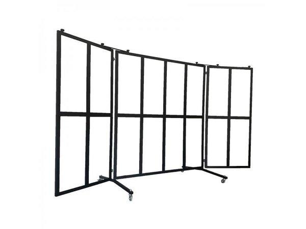 Veba Patio screen / Windshield | 16 Plexiglass Windows Panes | 4 castors