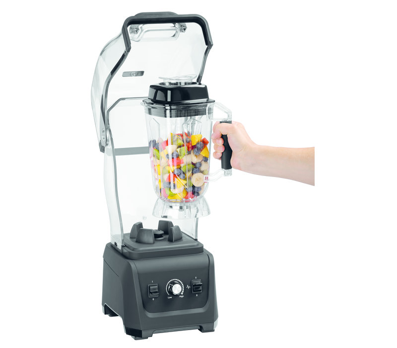 Bartscher Blender PRO XTRA 2,5L   Geluidwerende Kap   2,5 Liter   1,68 kW   240x270x(H)570mm
